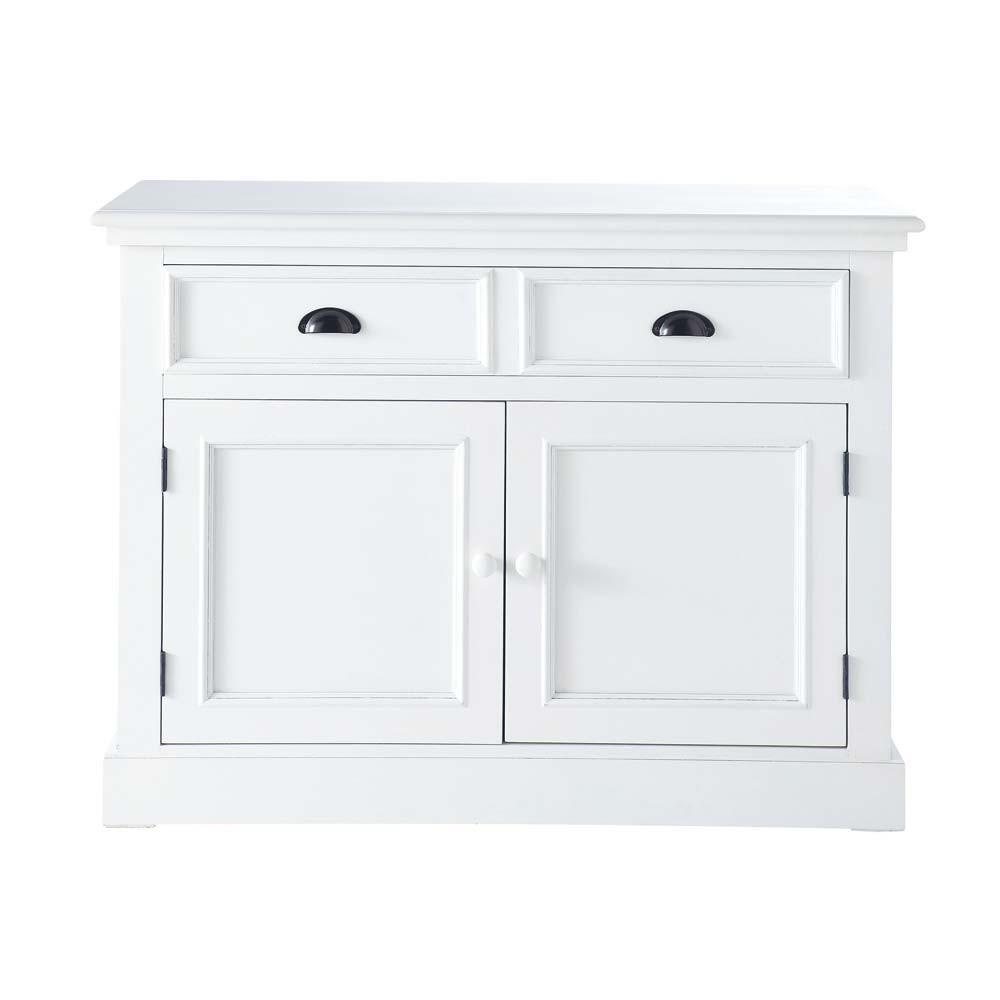 Credenza bianca in legno L 106 cm Newport | Maisons du Monde