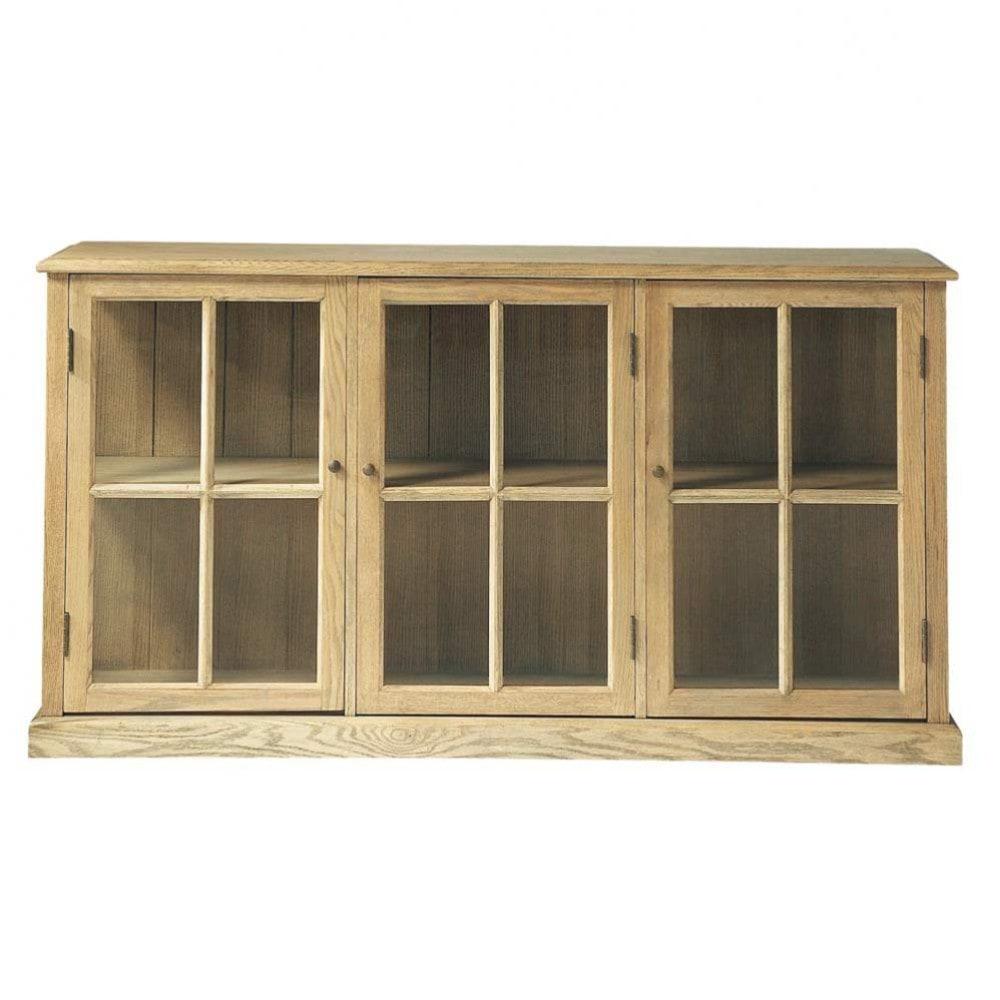 Credenza con vetrine in massello di quercia L 171 cm Atelier ...