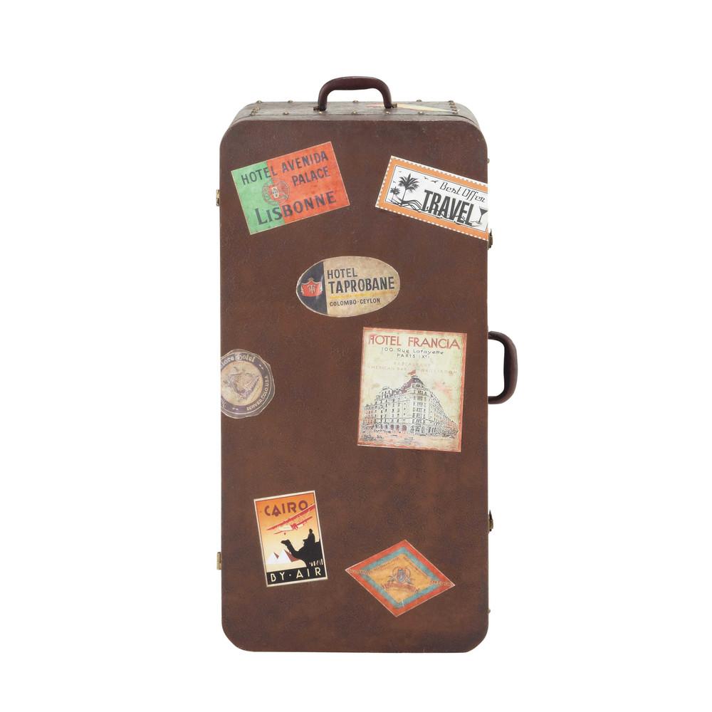 Credenza marrone in metallo a forma di valigia l 49 cm for Maison du monde credenze