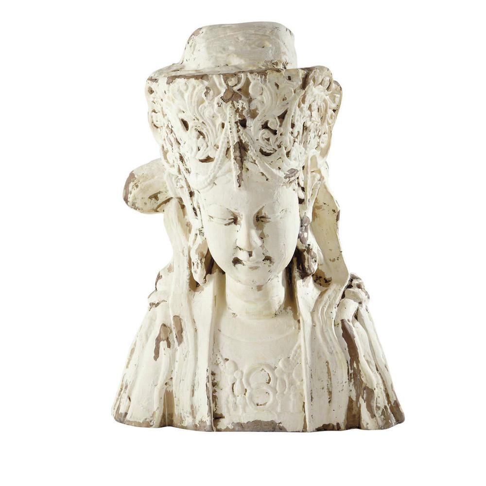 Cr mekleurig polyharsen beeld van godin mazu h 68 cm maisons du monde - Beeld van decoratie ...
