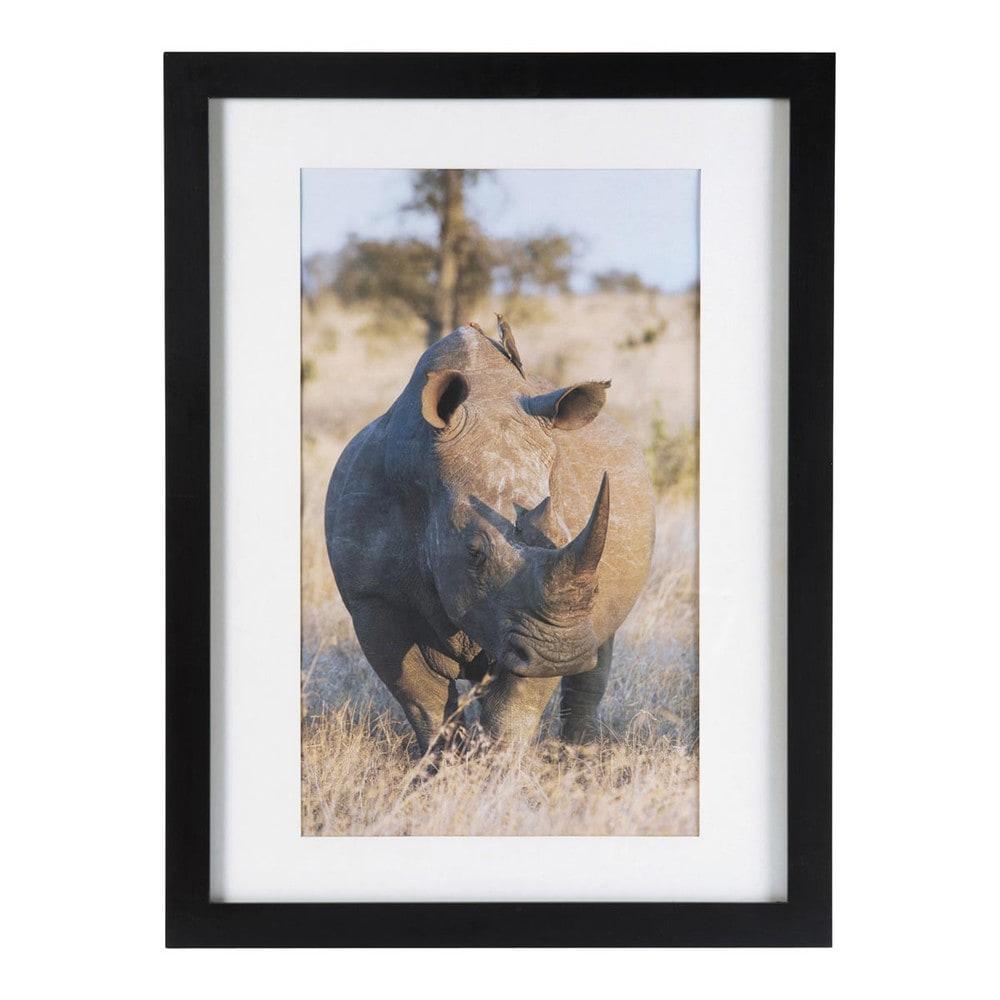 Cuadro con marco rinoceronte kampala maisons du monde - Cuadros con marcos ...