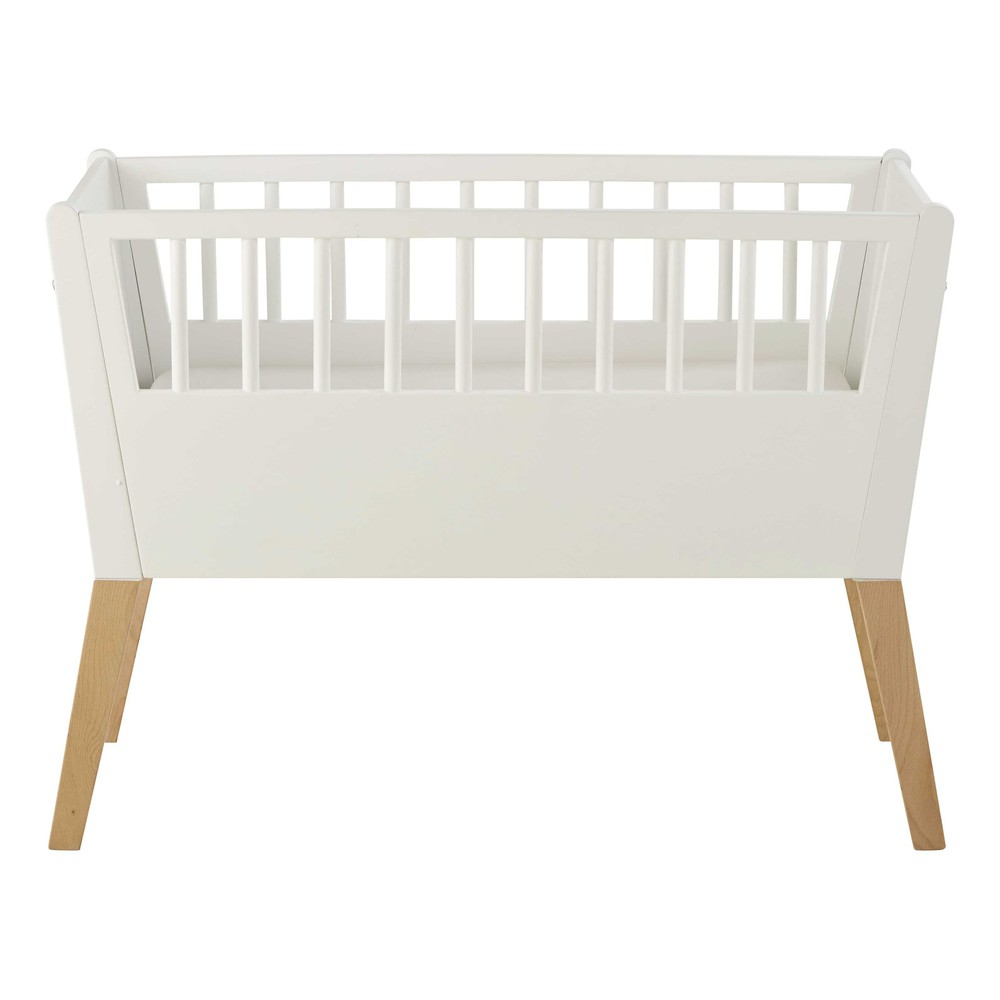 Cuna de beb de madera blanca l 95 cm sweet maisons du monde for Cuna madera blanca
