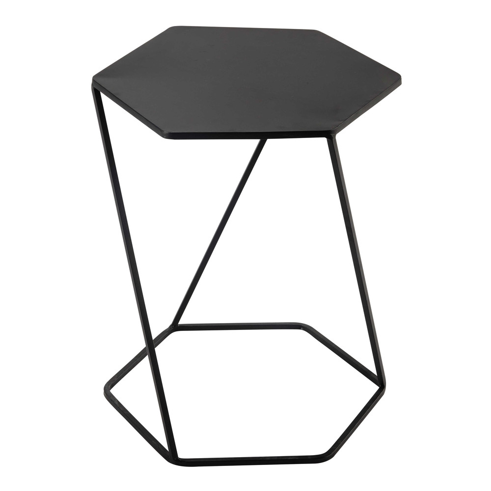 curtis metal side table in black w 45cm maisons du monde. Black Bedroom Furniture Sets. Home Design Ideas