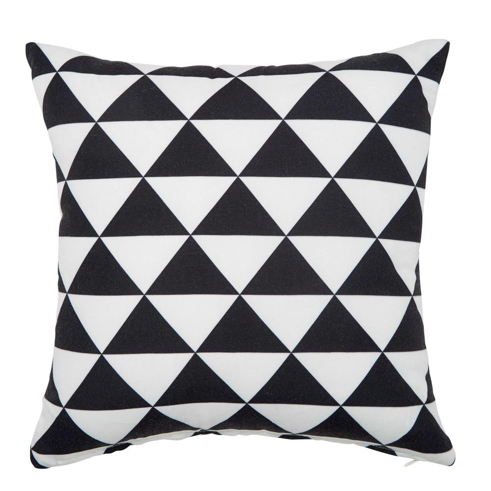 cuscino bianco e nero da esterno 40 x 40 cm labrit maisons du monde. Black Bedroom Furniture Sets. Home Design Ideas