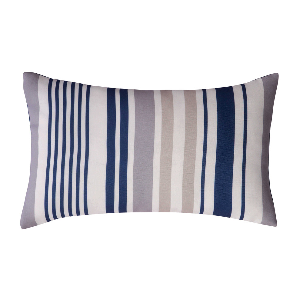 Cuscino blu a righe da esterno 30 x 50 cm ol ron maisons - Maison du monde cuscini da esterno ...