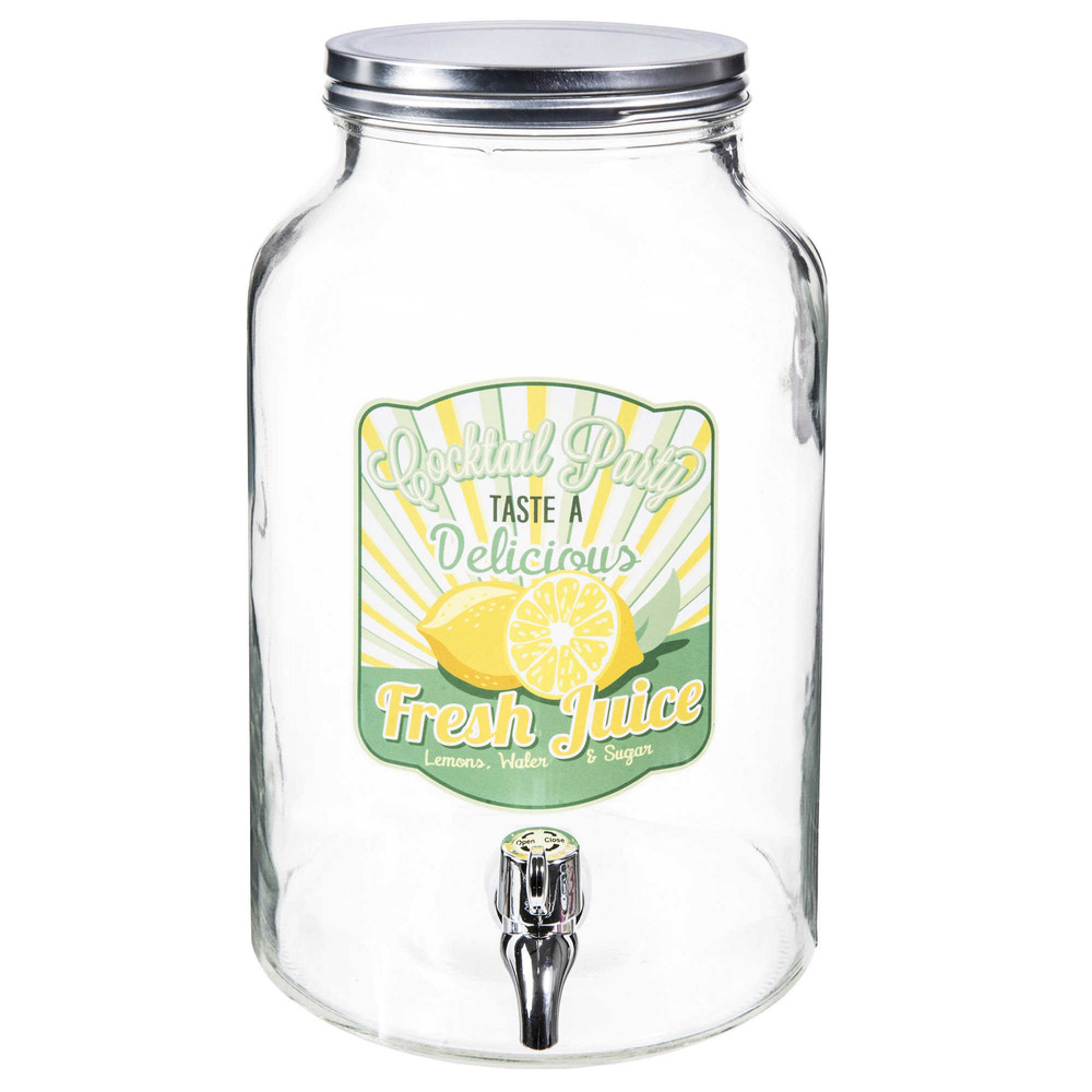 damigiana in vetro con rubinetto cocktail maisons du monde