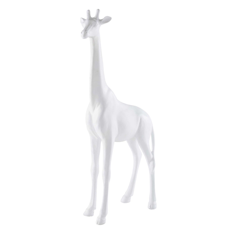 Deco De Jardin Girafe En Resine Blanche H91 Daisy Maisons Du Monde