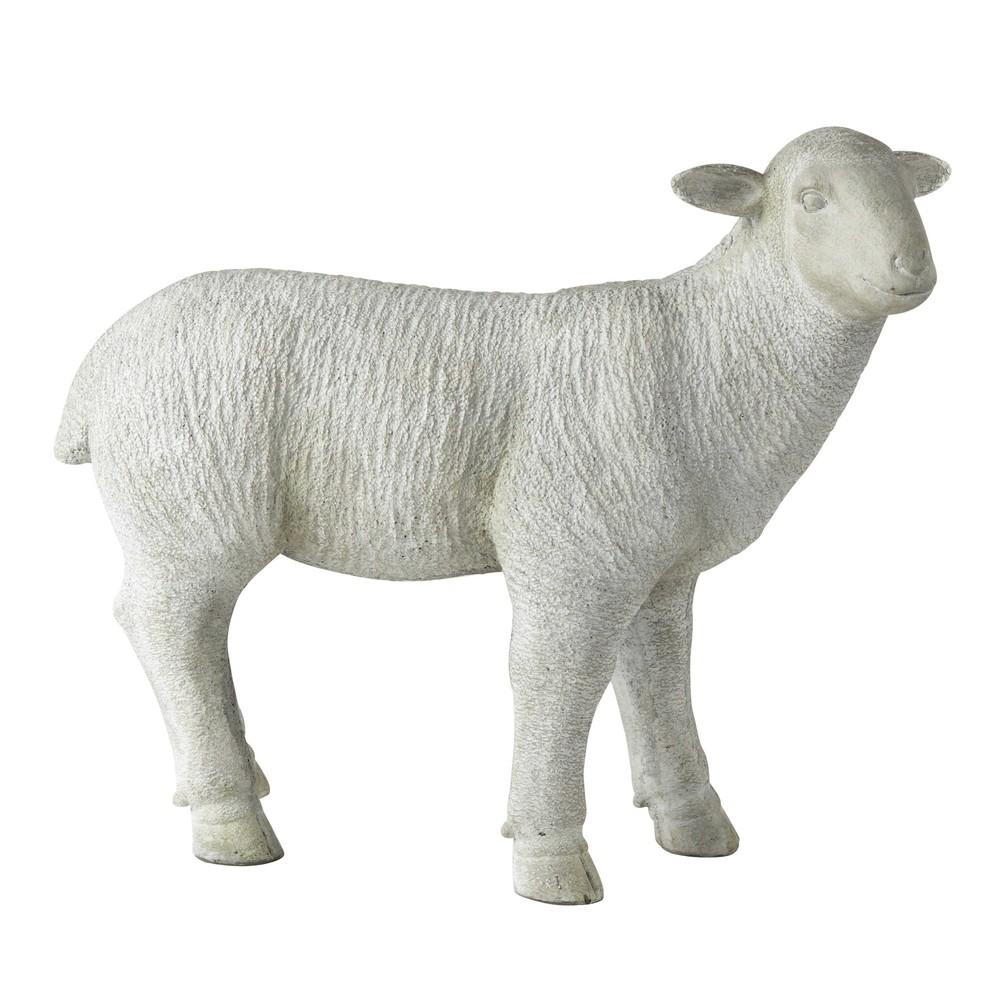 D co de jardin mouton en r sine grise h 53 cm bertin maisons du monde - Peau de mouton maison du monde ...