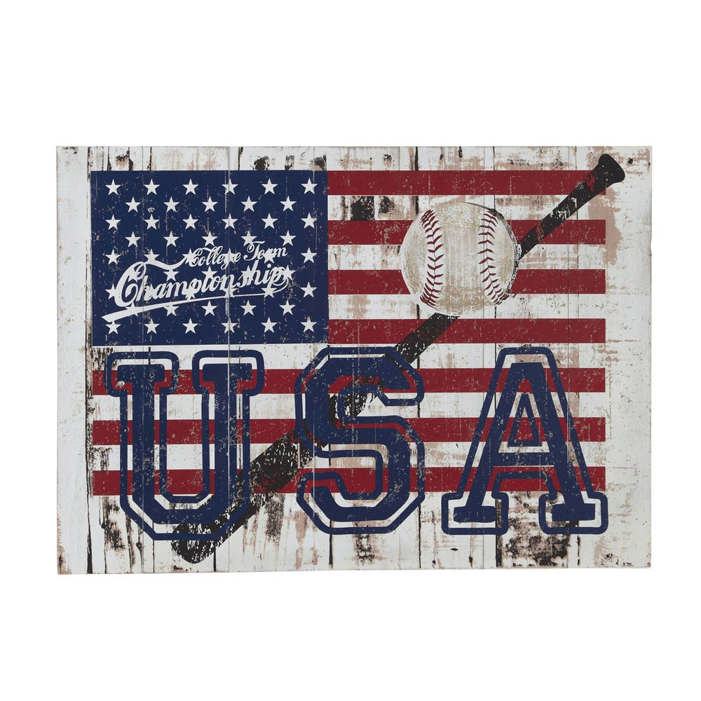 D co murale drapeau usa 50 x 70 cm andrews maisons du monde for Decoration murale usa