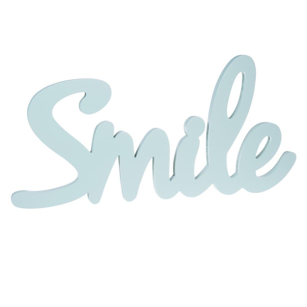 D co murale en bois vert pastel 29 x 60 cm smile maisons for Maison smile
