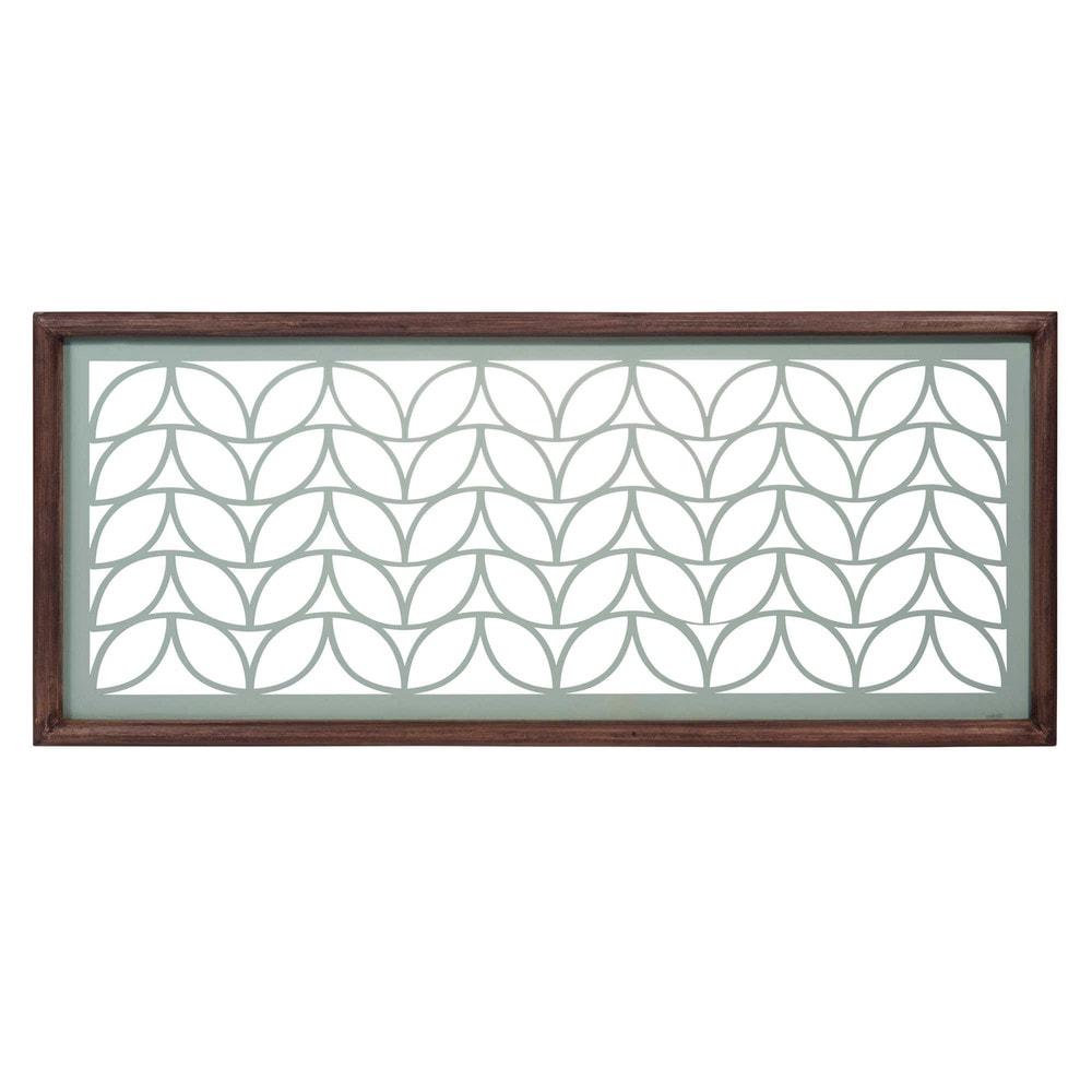 d co murale en m tal 35 x 83 cm leaves maisons du monde. Black Bedroom Furniture Sets. Home Design Ideas
