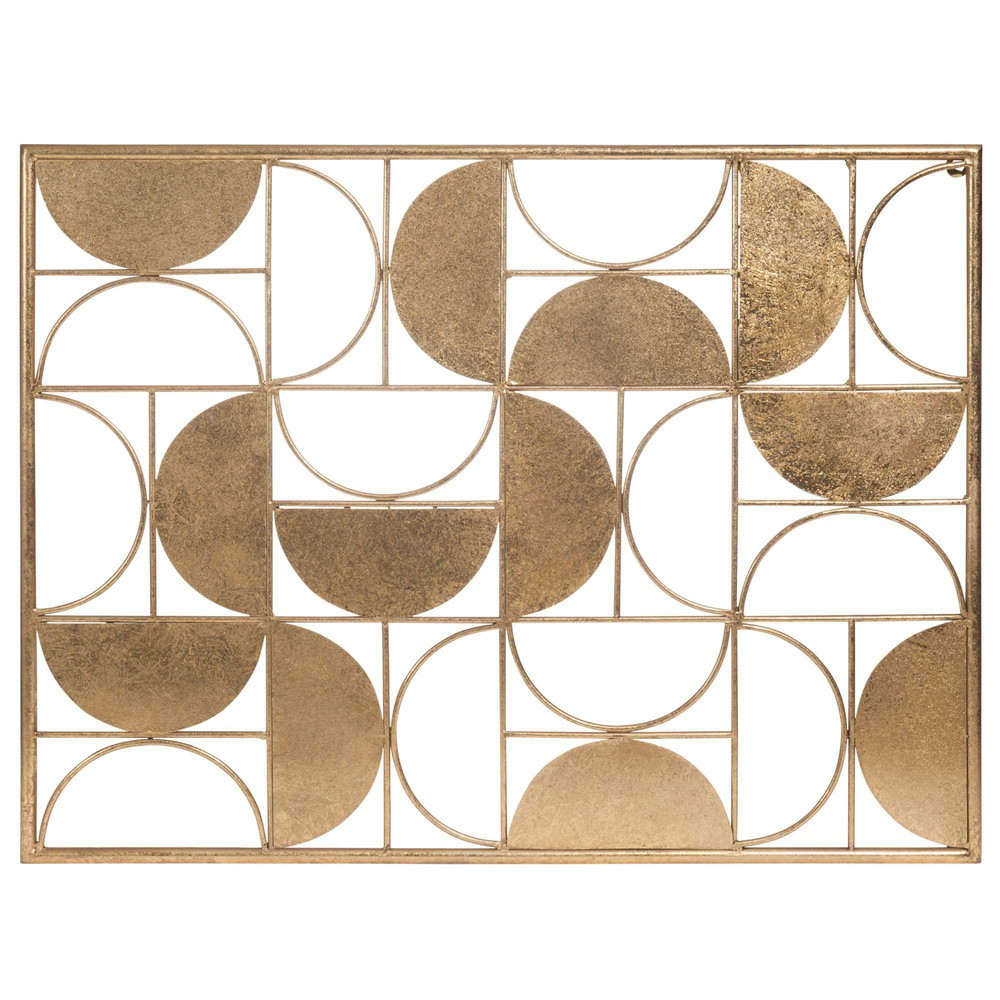 D co murale en m tal 60 x 80 cm half moon maisons du monde for Deco murale en metal