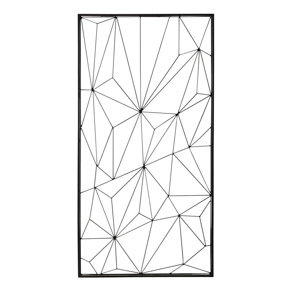 D co murale en m tal noire 62 x 121 cm network maisons for Deco murale design metal