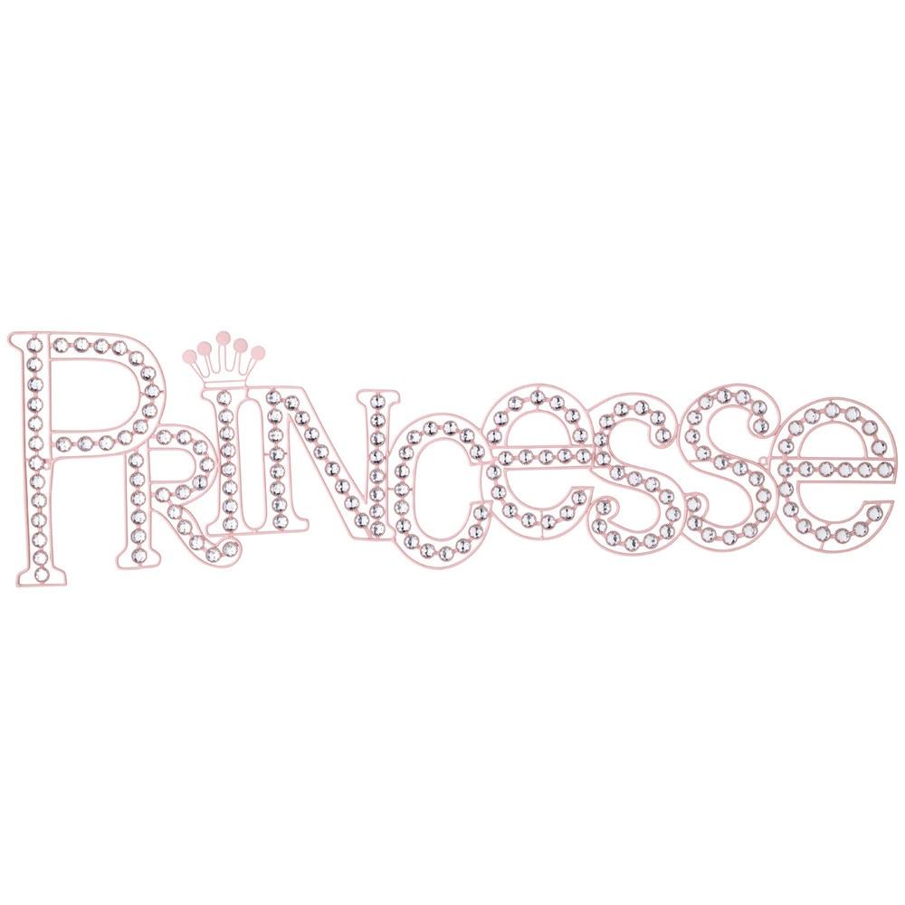 Déco murale en métal rose 35 x 118 cm PRINCESSE  Maisons