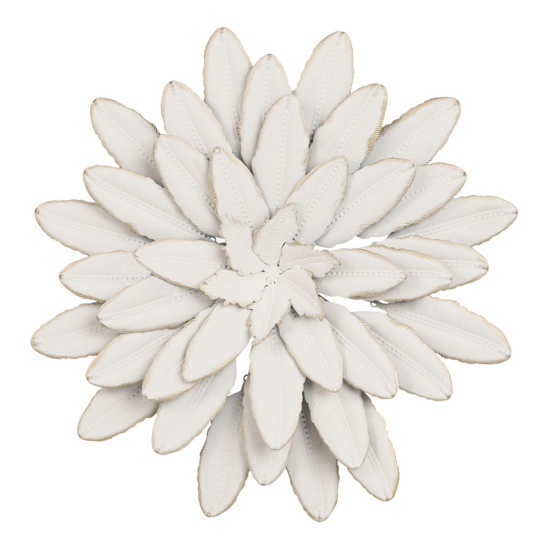 Deco Murale Fleur En Metal Blanc D41 Flower Maisons Du Monde