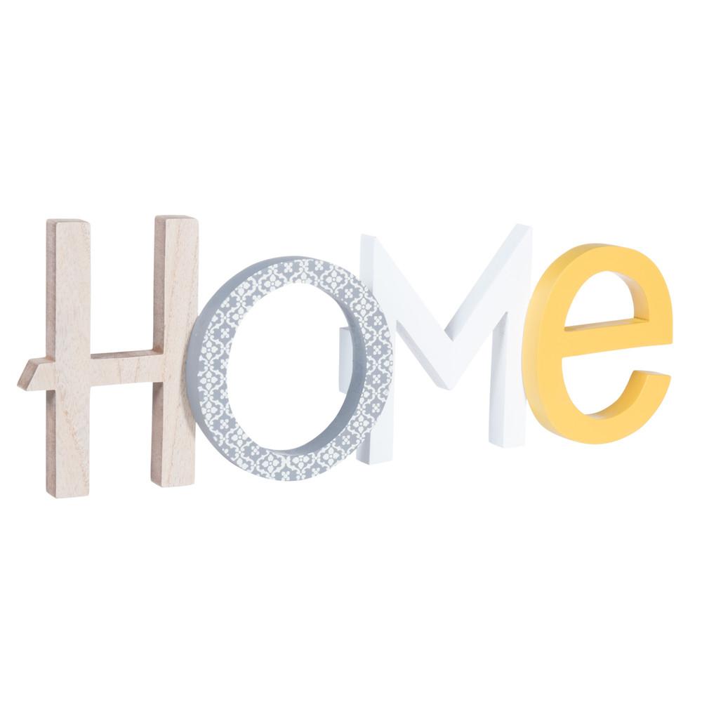 d co murale home en bois 14 x 40 cm yellow summer. Black Bedroom Furniture Sets. Home Design Ideas