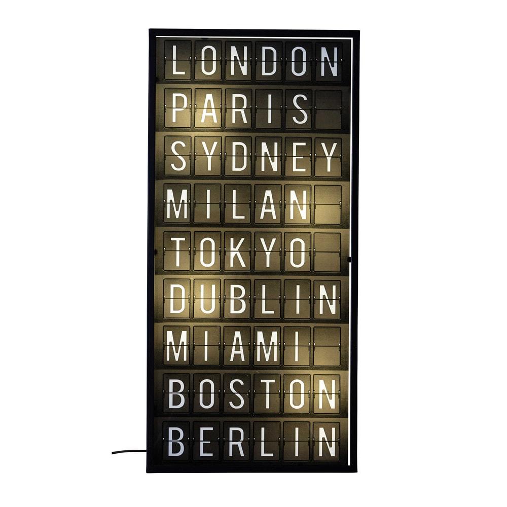 D co murale lumineuse 38 x 80 cm citylive maisons du monde - Decoration murale lumineuse ...