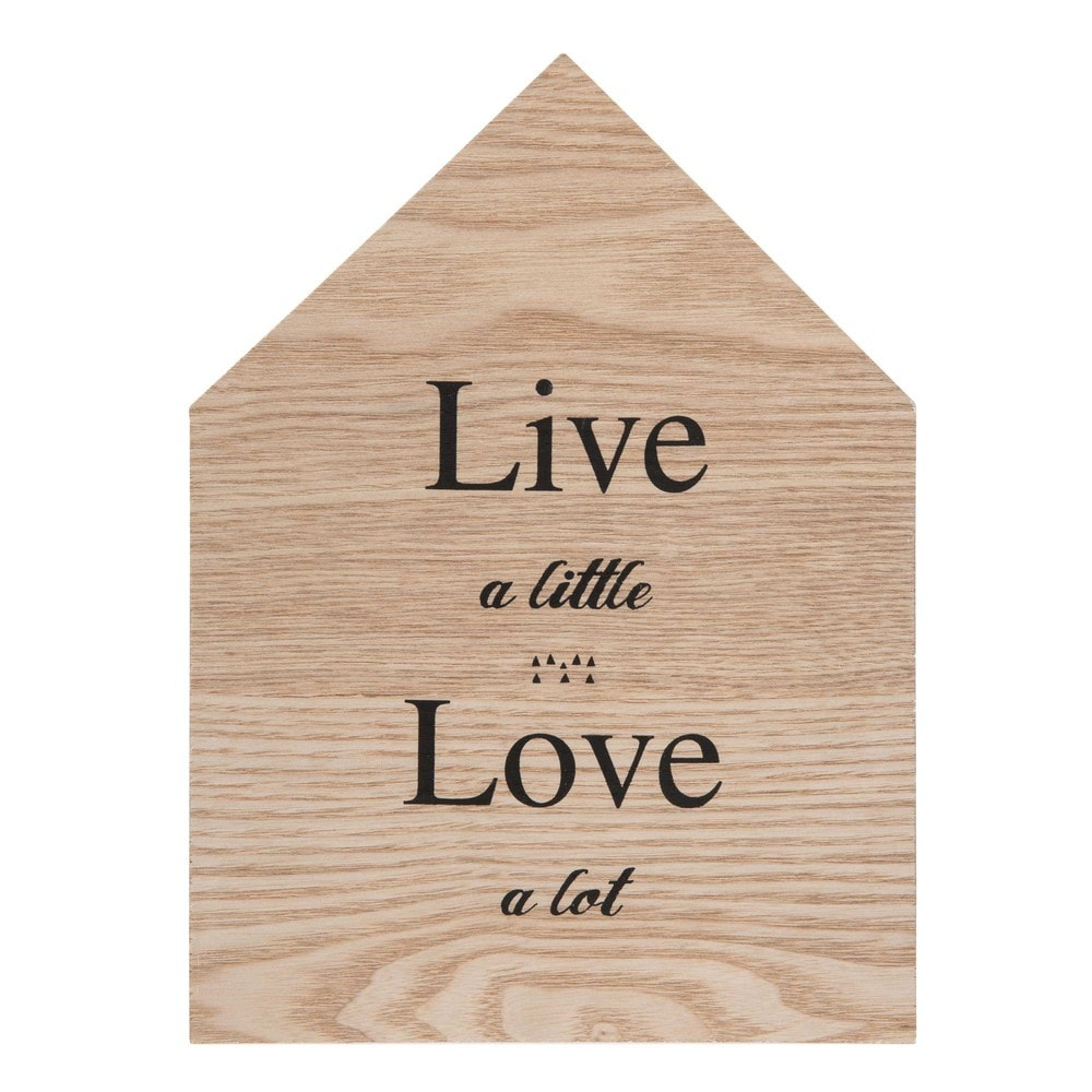 D co murale maison en bois h 28 cm live love maisons for Decoration murale love