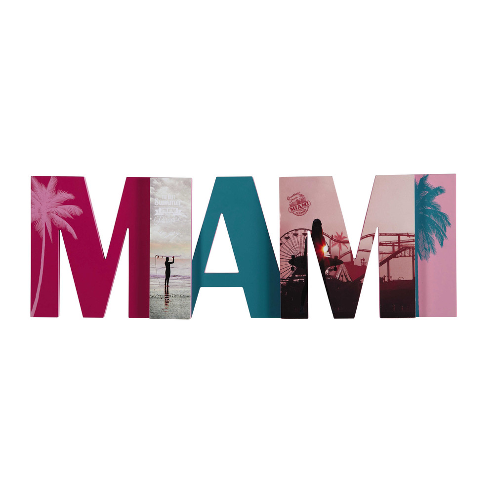 D co murale multicolore 24 x 72 cm miami maisons du monde for Decoration murale usa
