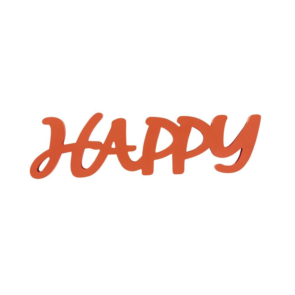 D co murale orange 14 x 50 cm happy maisons du monde for Deco murale youtube