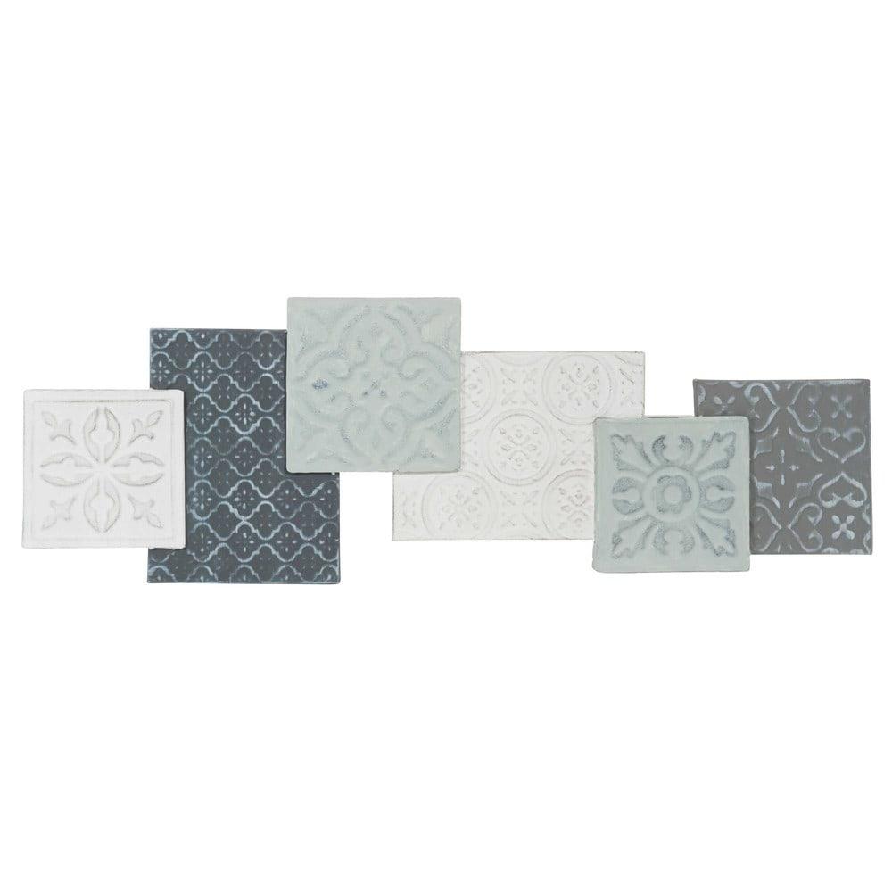 Decoraci n de metal 27 x 80 cm grey maisons du monde for Letras decoracion metal