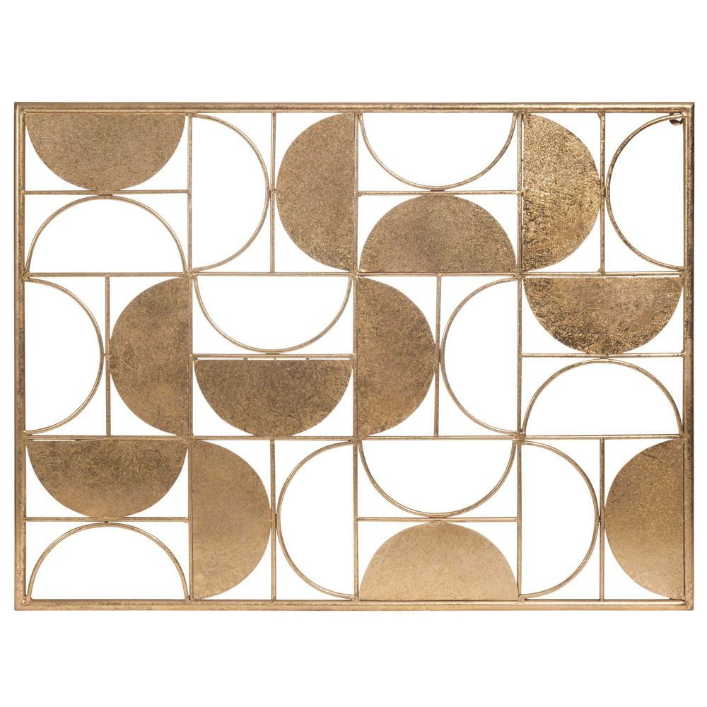 Decoraci n de pared de metal 60 x 80 cm half moon for Adornos pared metal