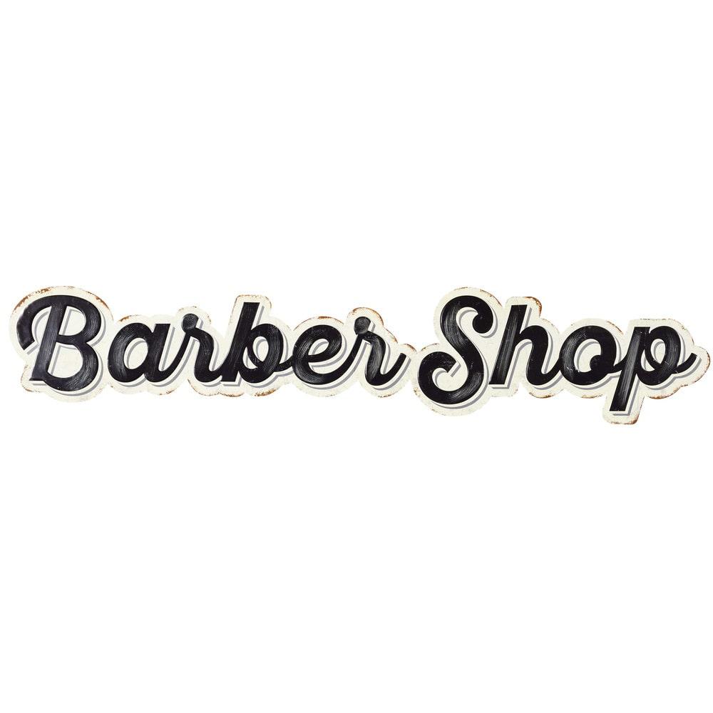 Decoraci n de pared de metal embutido cm barber shop for Letras decoracion metal