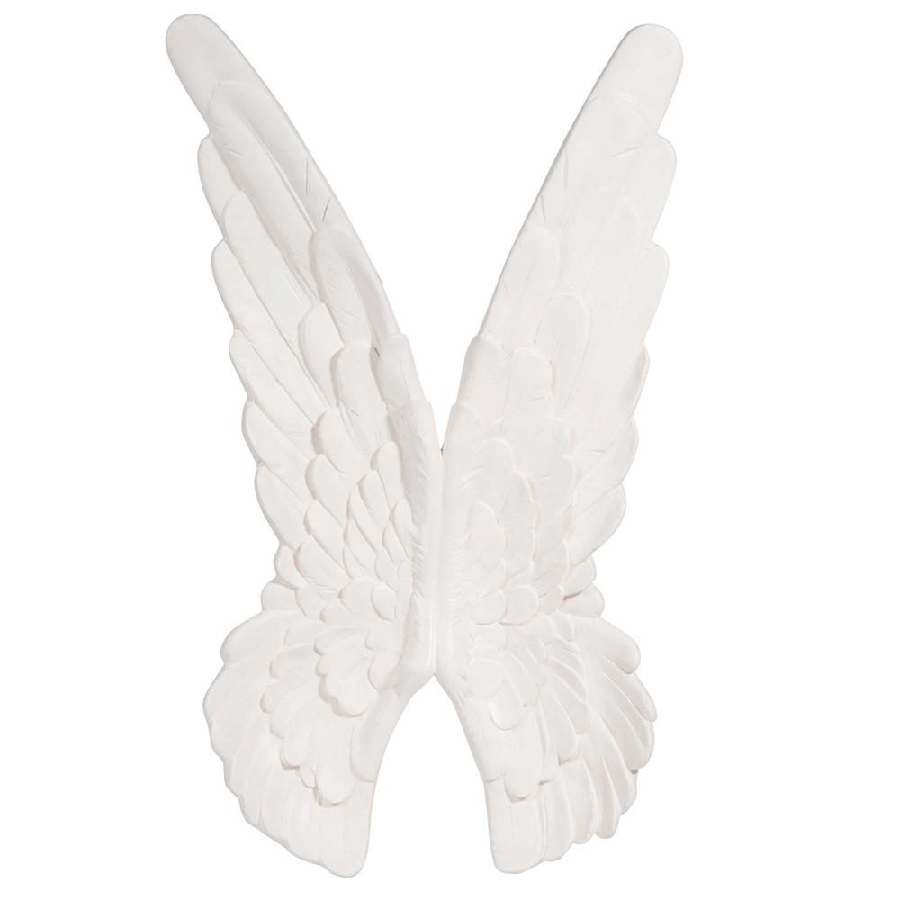 decorazione da parete ali d 39 angelo bianche h 78 cm. Black Bedroom Furniture Sets. Home Design Ideas