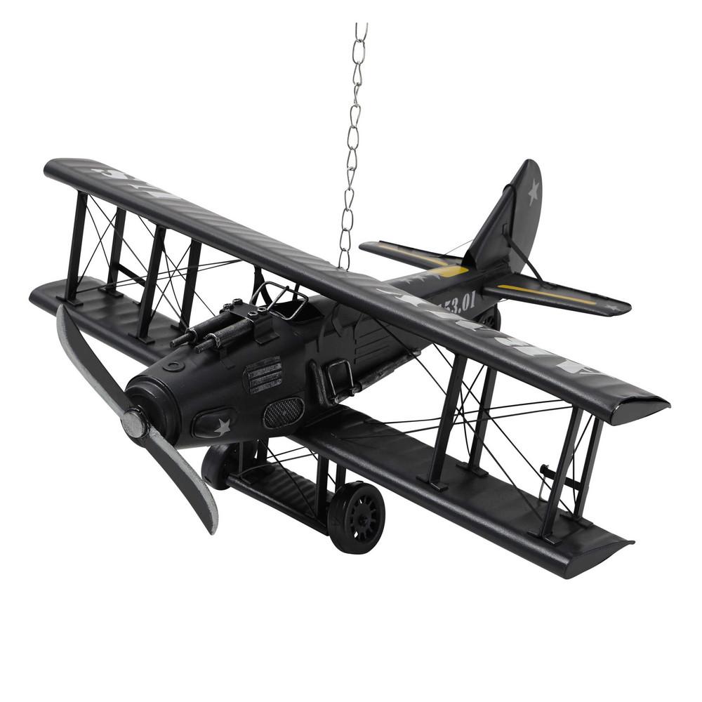 deko flugzeug aus metall 18 x 42 cm army maisons du monde. Black Bedroom Furniture Sets. Home Design Ideas