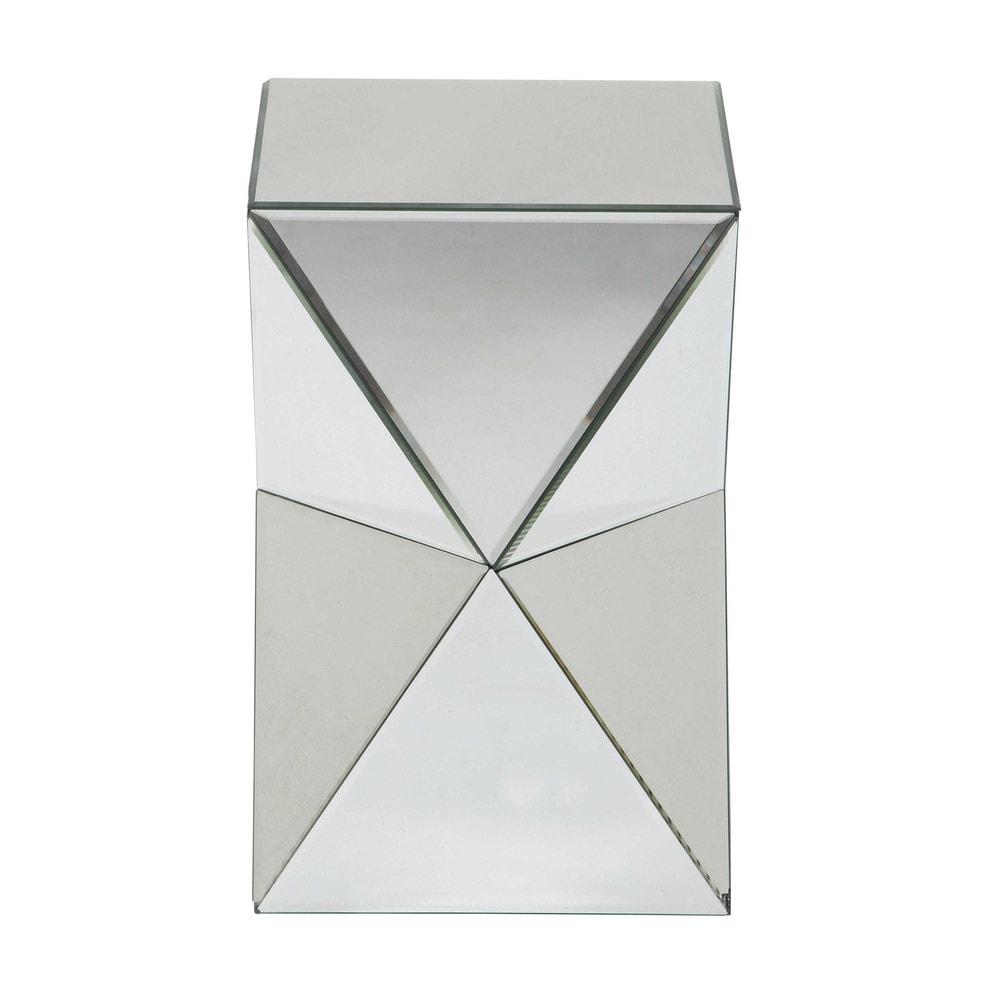 DIAMANT bijzettafel met spiegels B 33 cm   Maisons du Monde