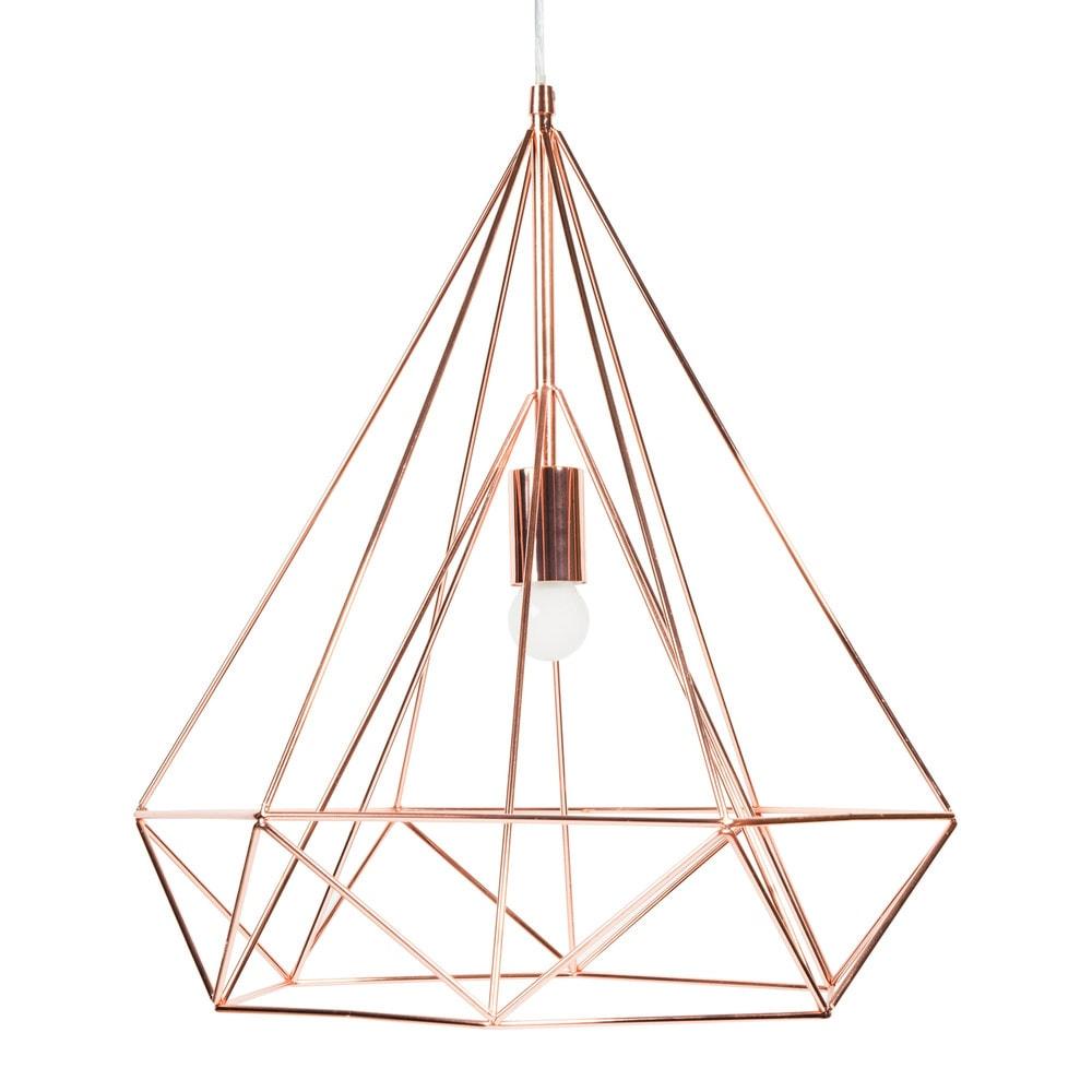Diamond copper metal suspension d 45cm maisons du monde - Suspension metal blanc ...