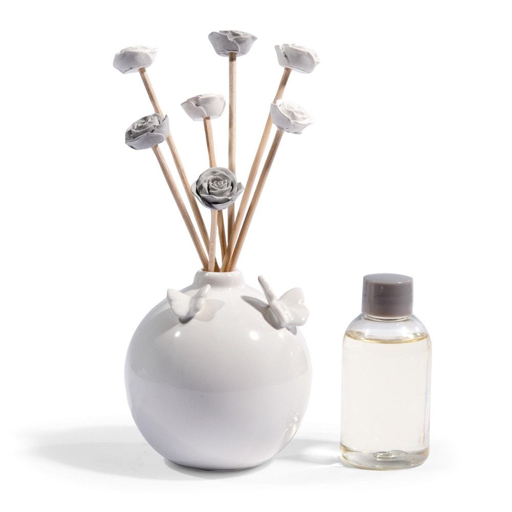Diffuseur Parfum Maison : diffuseur de parfum blanc fleurs maisons du monde ~ Teatrodelosmanantiales.com Idées de Décoration