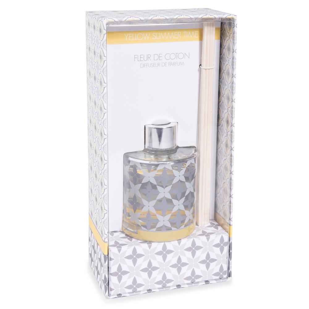 diffuseur de parfum fleur de coton 100 ml yellow cotton maisons du monde. Black Bedroom Furniture Sets. Home Design Ideas