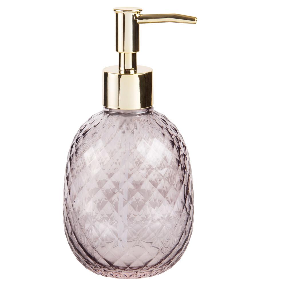 Distributeur de savon en verre teinté gris   Maisons du Monde