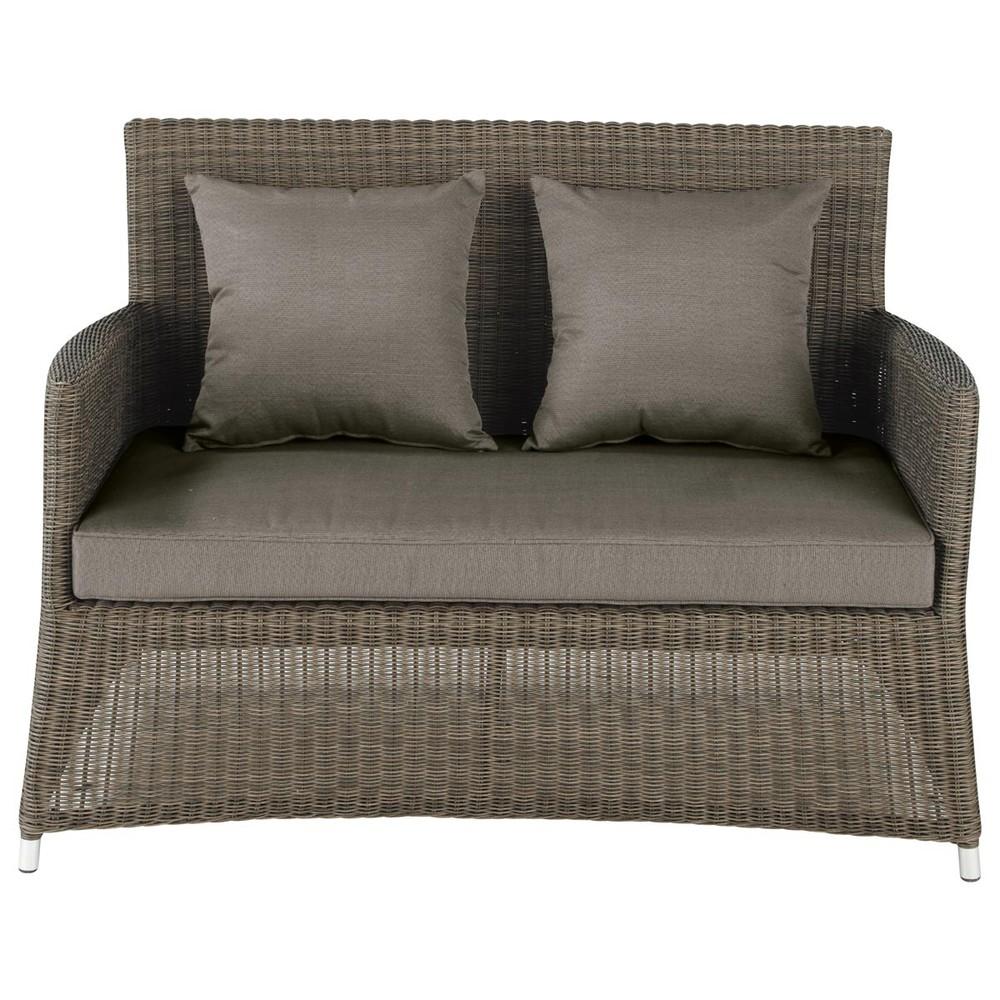 50 divanetto da giardino 2 posti in resina intrecciata