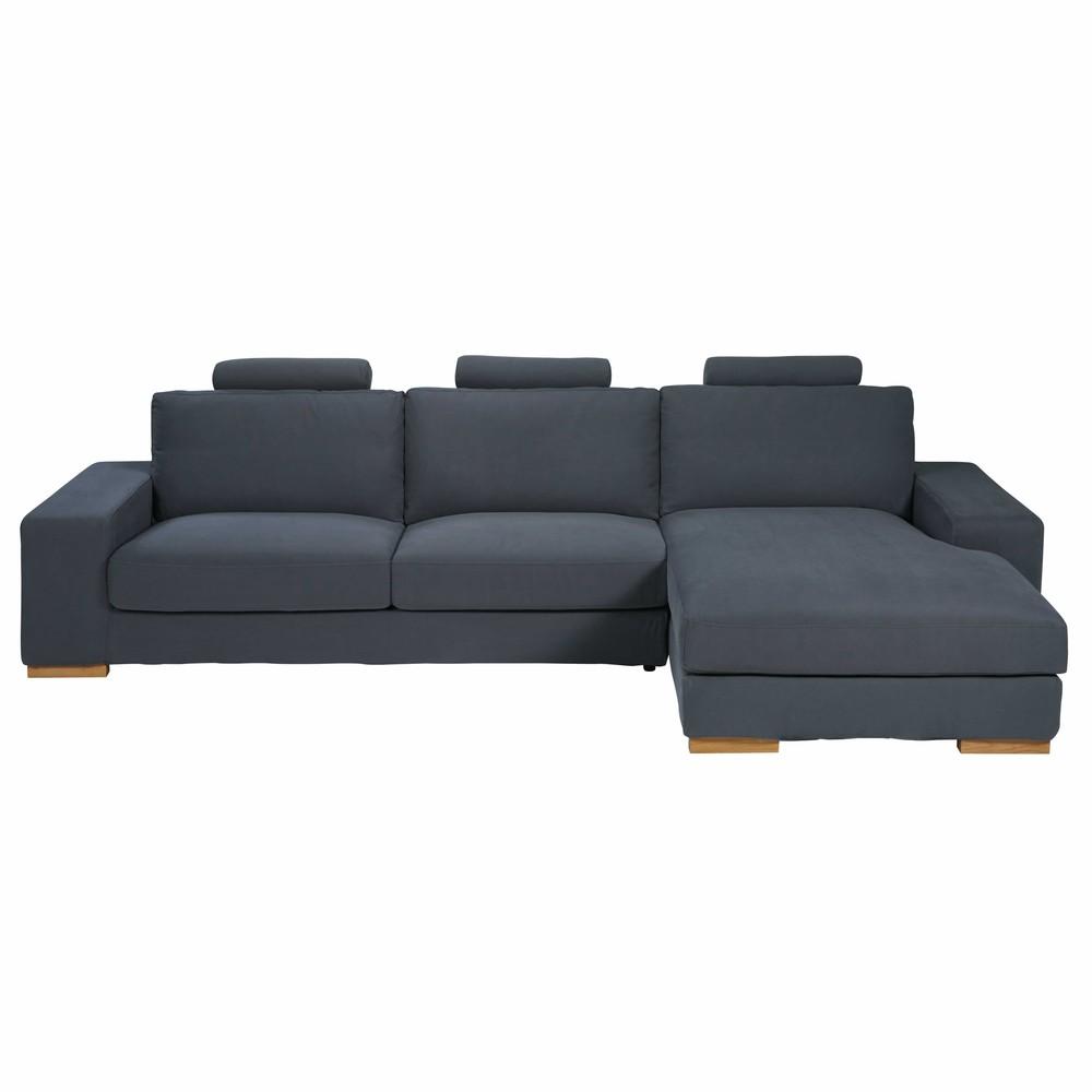divano ad angolo destro 5 posti grigio scuro in tessuto daytona ... - Ampio Divano Ad Angolo In Tessuto Grigio Bianco