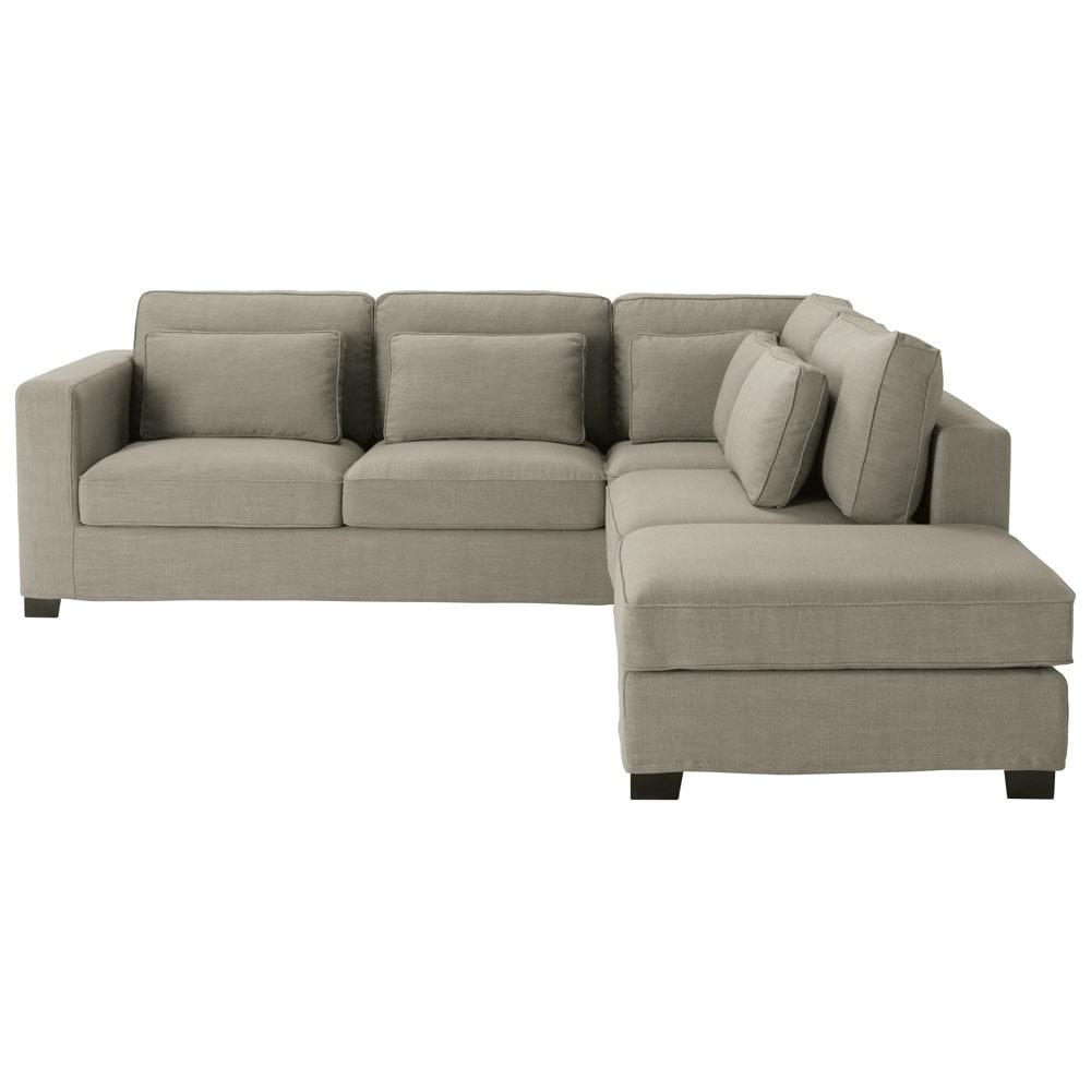 divano ad angolo grigio in tessuto 5 posti milano