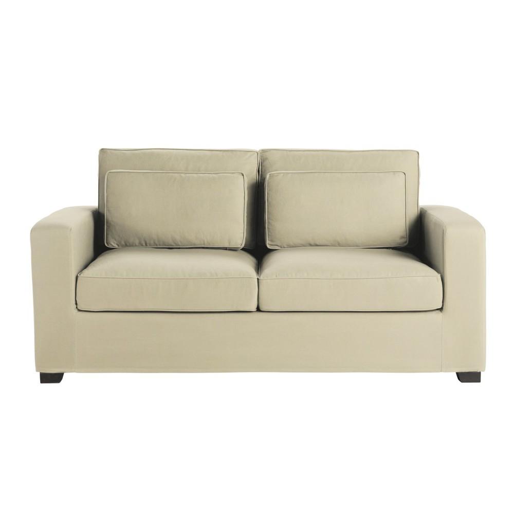Divano beige grigio chiaro in cotone 3 posti milano eco - Divano grigio chiaro ...