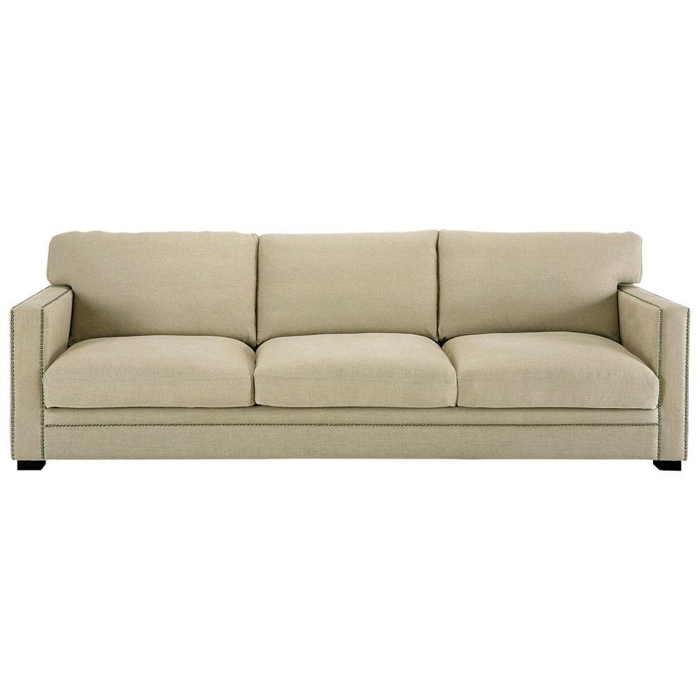 Divano beige grigio chiaro in lino 4 5 posti dandy for Divano 4 posti