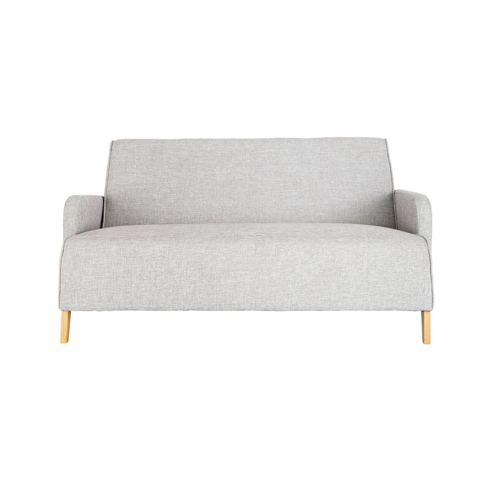 Divano grigio in tessuto 2 posti adam maisons du monde for Divano letto dimensioni ridotte