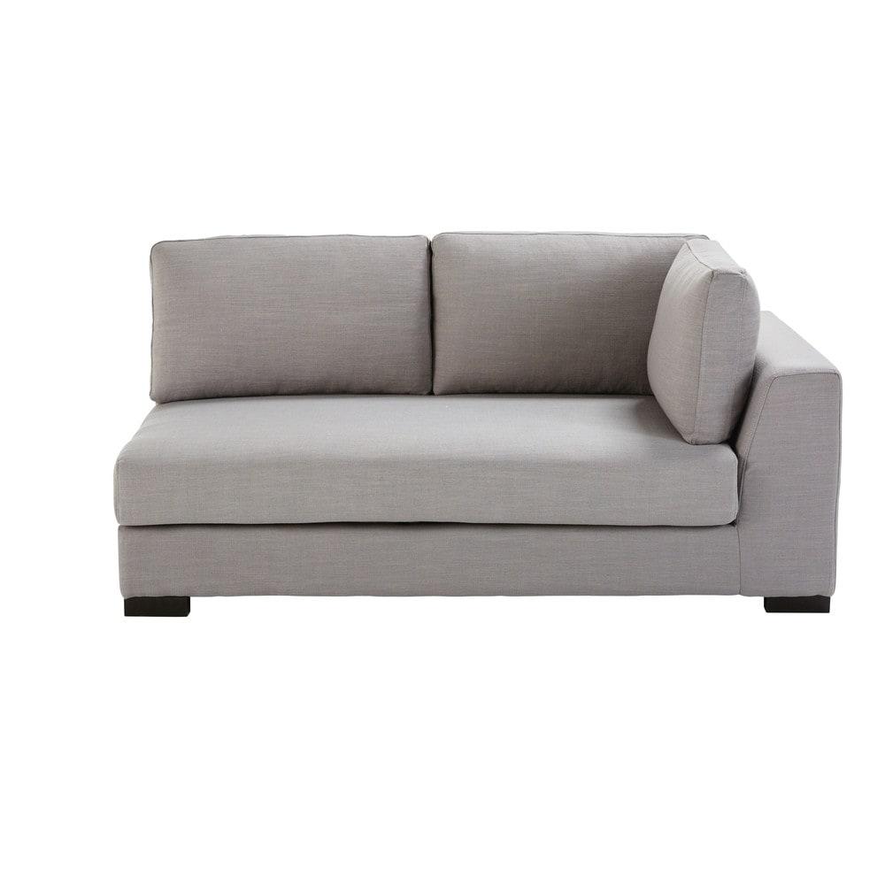 Divano letto componibile con bracciolo destro grigio for Divano letto componibile