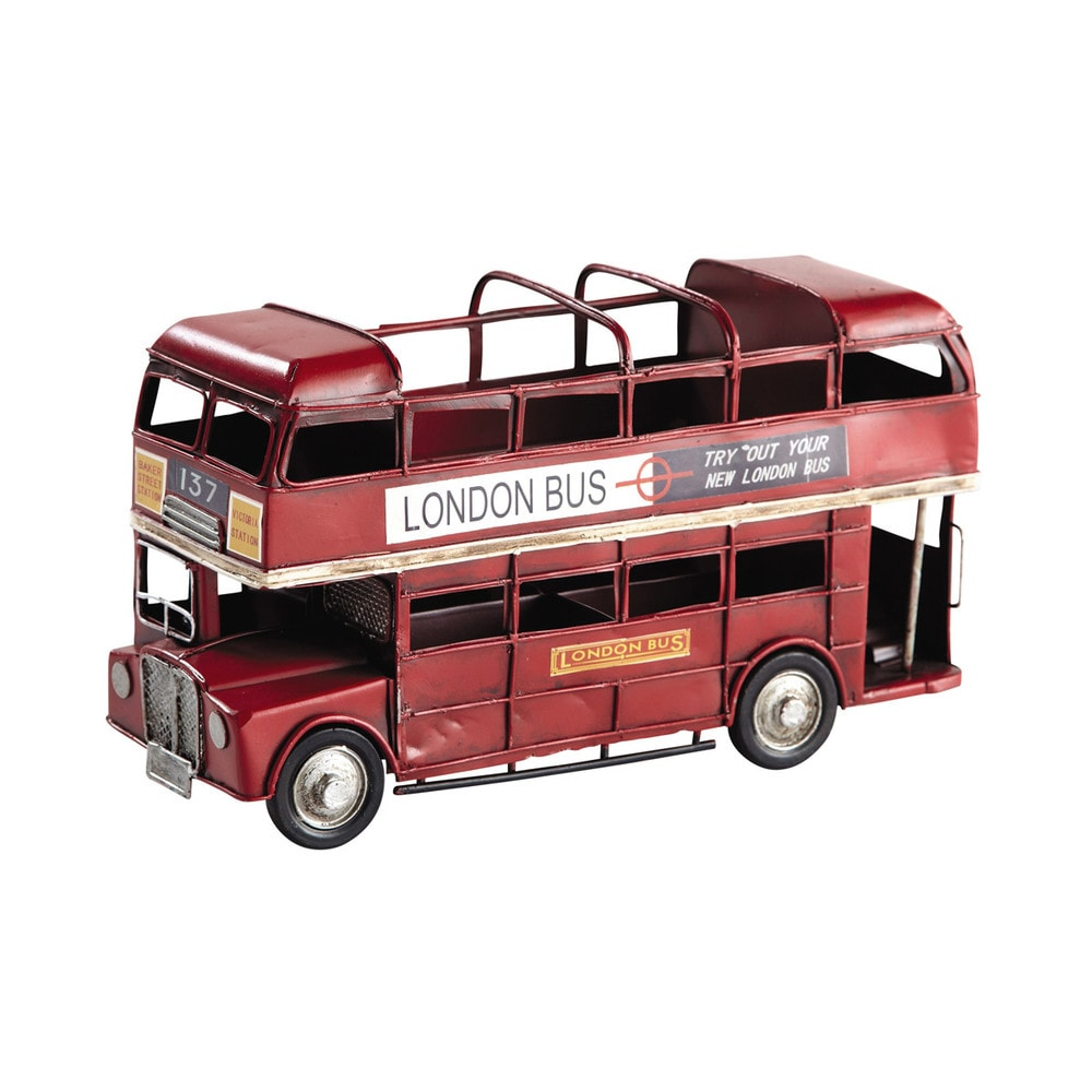Double decker bus red pencil holder maisons du monde for Maison de monde uk