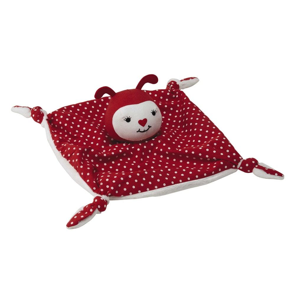 doudou enfant en coton rouge 20 x 20 cm coccinelle maisons du monde. Black Bedroom Furniture Sets. Home Design Ideas