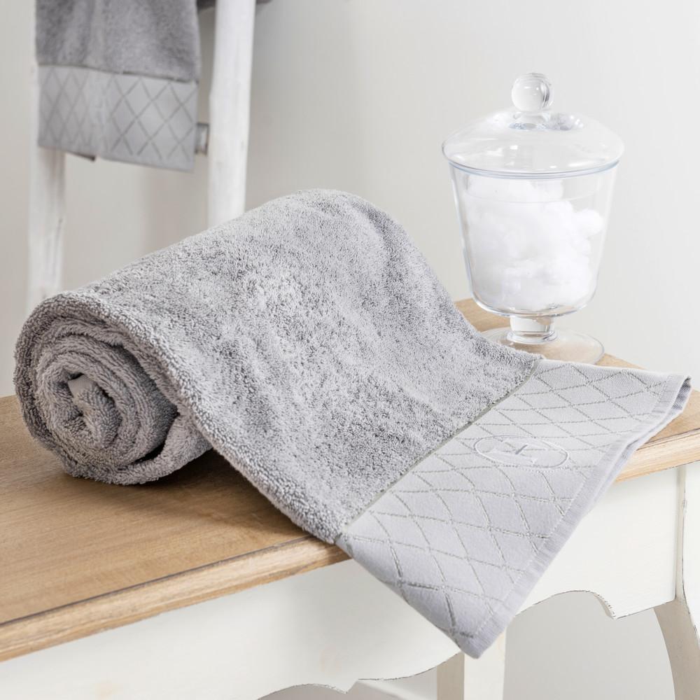 drap de bain en coton gris 50 x 100 cm h tel maisons du monde. Black Bedroom Furniture Sets. Home Design Ideas