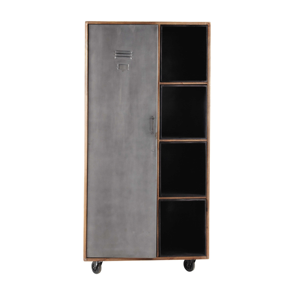 dressing roulettes en manguier massif l 95 cm lenox. Black Bedroom Furniture Sets. Home Design Ideas