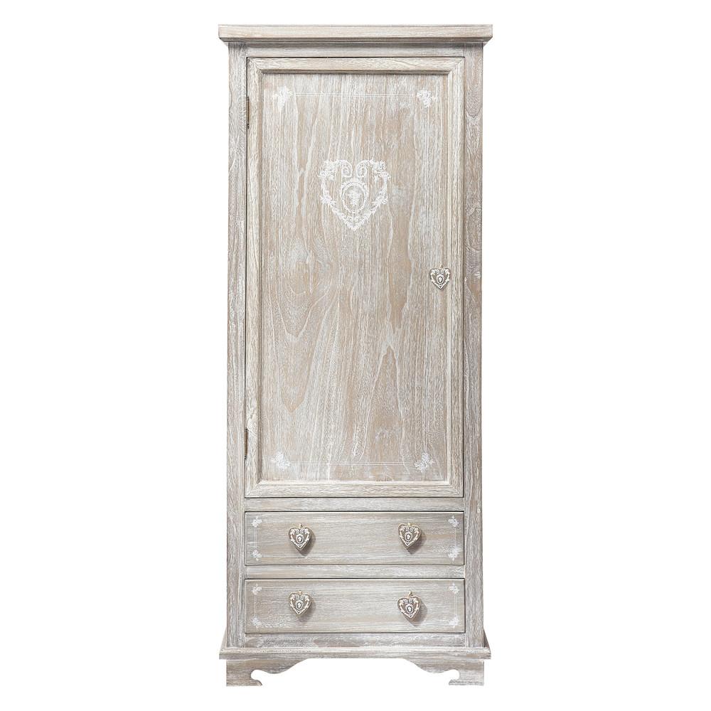 Dressing en bois de paulownia gris camille maisons du monde - Maison du monde armoires ...