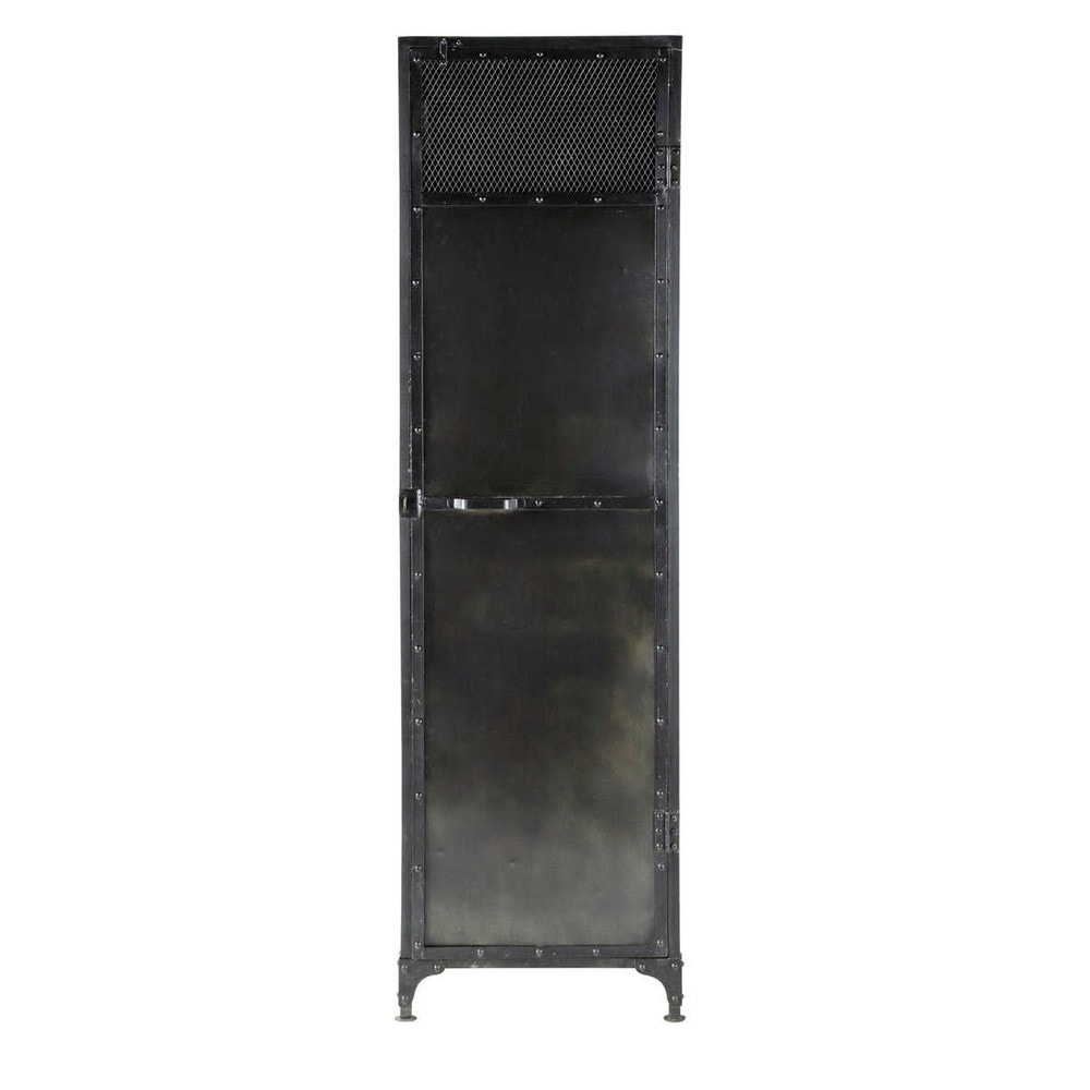 dressing en m tal noir effet vieilli l 55 cm edison. Black Bedroom Furniture Sets. Home Design Ideas