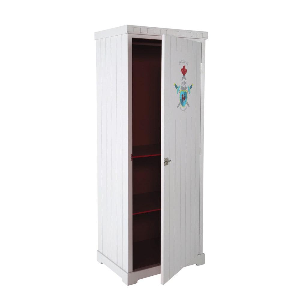 dressing enfant en m tal rouge l 85 cm chevalier maisons. Black Bedroom Furniture Sets. Home Design Ideas