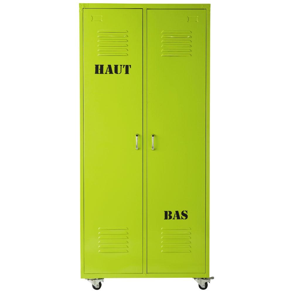 Dressing indus en m tal vert l 85 cm loft maisons du monde - Dressing maison du monde ...