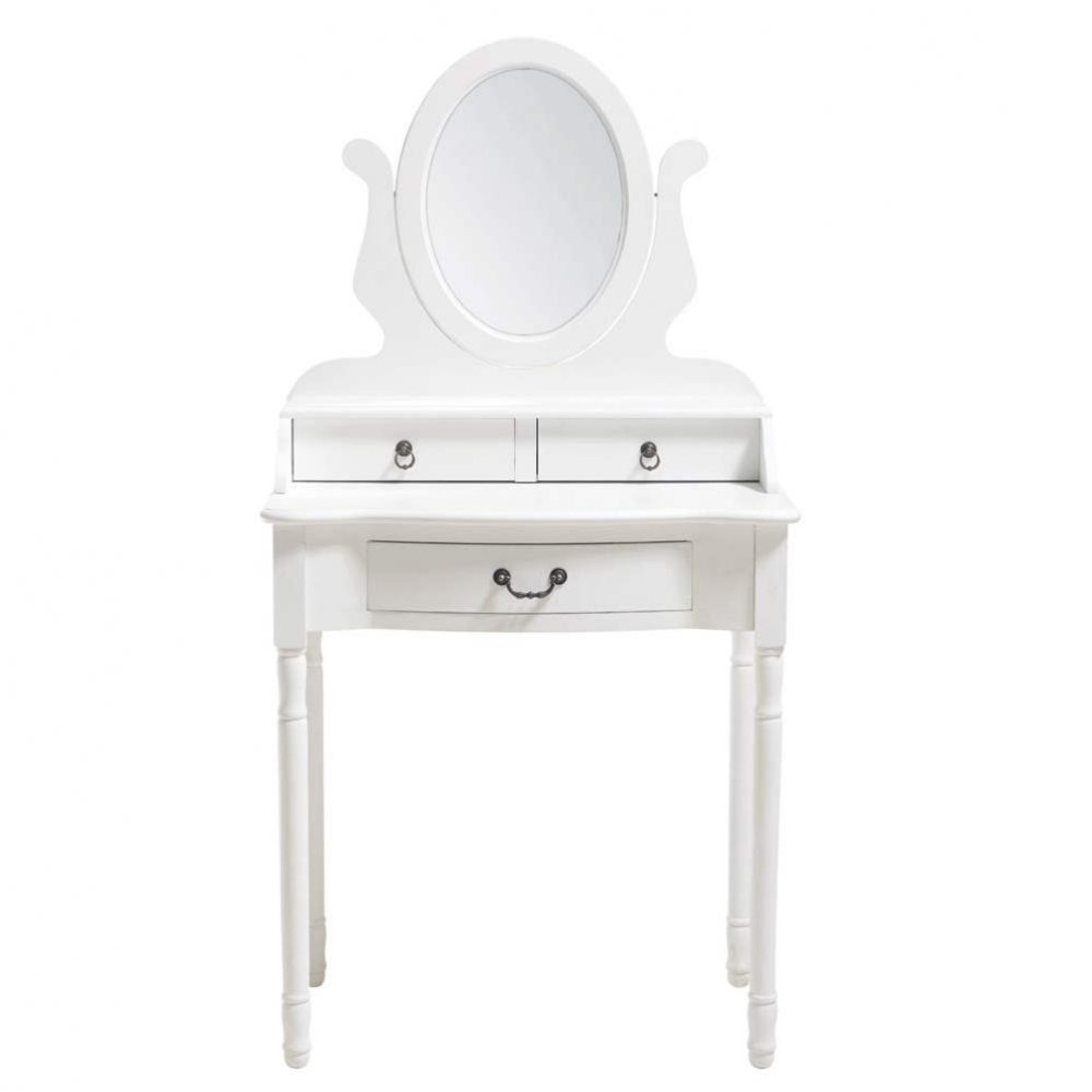 dressing table in white w 70cm jos phine maisons du monde. Black Bedroom Furniture Sets. Home Design Ideas